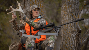 Melissa Bachman In Treestand Rattling