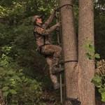 Treestand Safety Woman Climbing Tree (1)