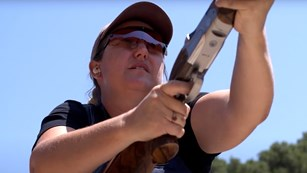 Kim Rhode Shotgun Position