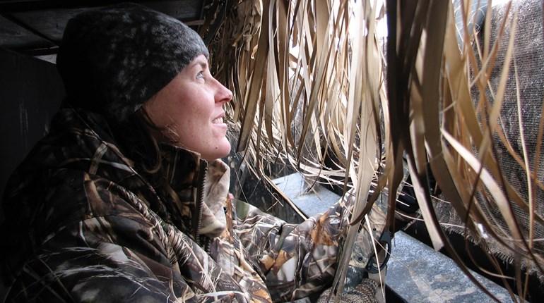 Hunter In Duck Blind