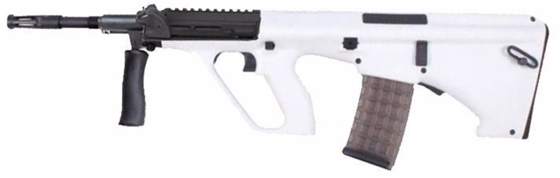 steyr aug in white