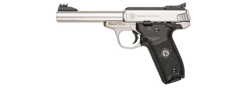 semi-automatic .22 smith and wesson pistol