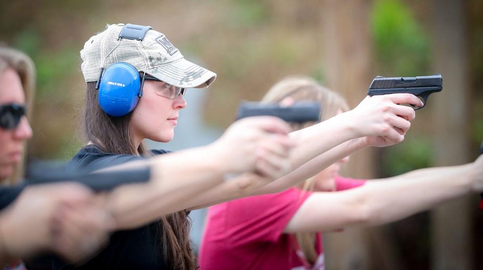 Women Shooting On Line