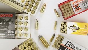 Ammunition Boxes And Cartridges